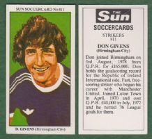 Birmingham City Don Givens Eire
